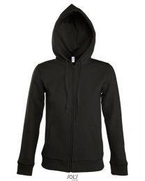 Dames, Hooded Zipped Jacket, Seven.