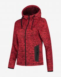 Dames, fleece hoodie, Cardigan Riptide.