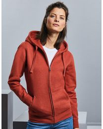 Authentic Melange Zipp Hoody, dames.